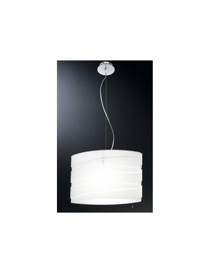 Ilaria lampadario camera da letto vetro bianco satinato