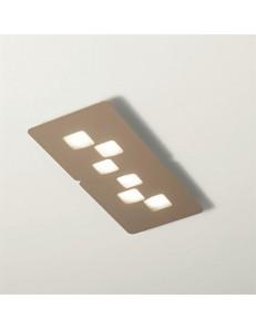 GEA LUCE: Bilbao plafoniera LED design moderno tortora per soggiorno in offerta