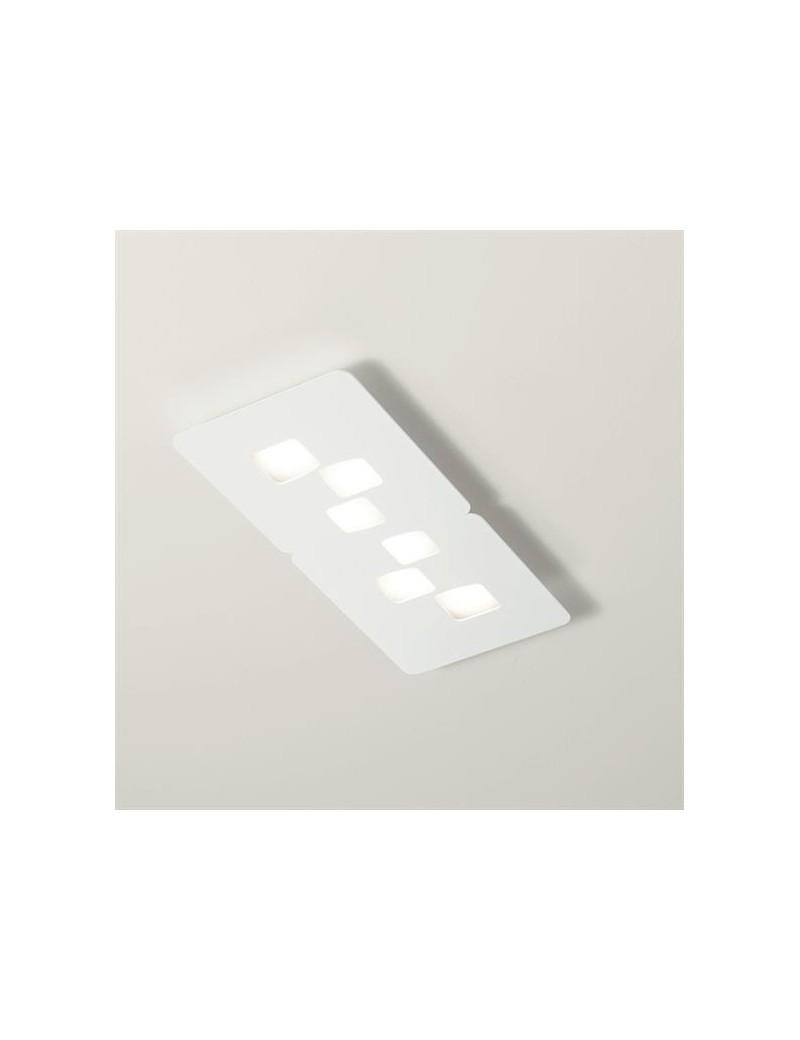 Bilbao plafoniera LED per soggiorno design moderno bianca