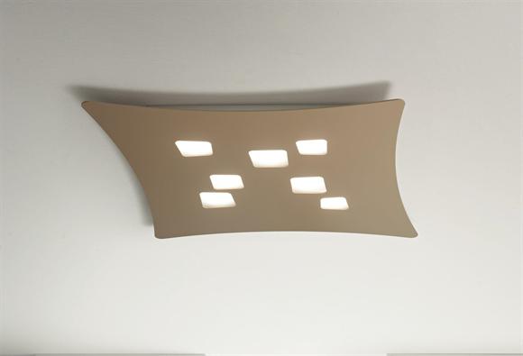 Plafoniere Led Grandi Dimensioni : Grande plafoniera lampadine led tortora design modera gea luce isotta