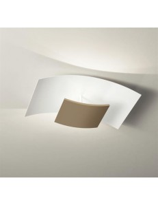GEA LUCE: Aria plafoniera media LED 40 watt tortora 54cm design dimmerabile luce calda in offerta