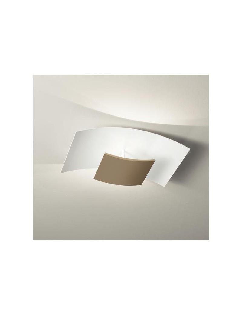Aria plafoniera LED 3000k bianco tortora design moderno per soggiorno 54cm