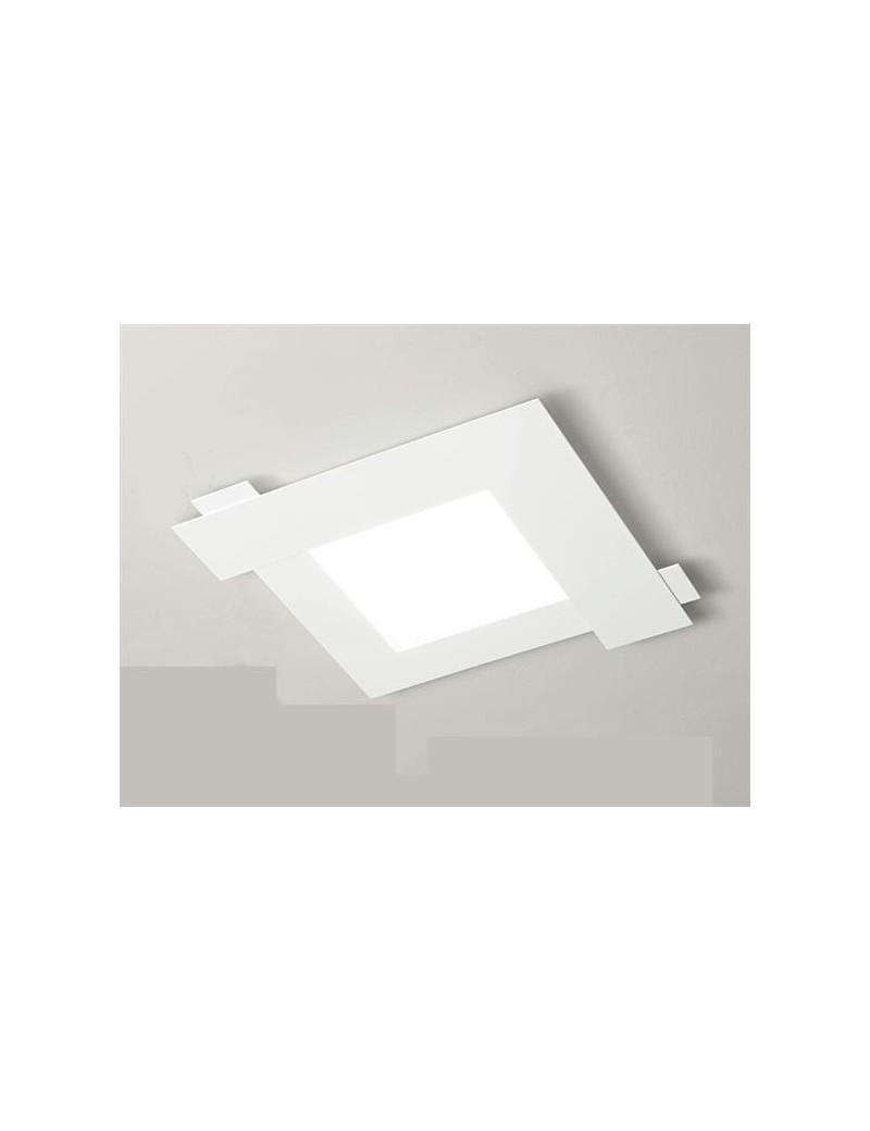 Abbraccio plafoniera LED bianco per soggiorno moderno 63cm