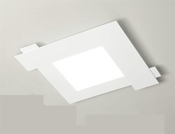 Plafoniere Per Rustico : Gea luce abbraccio Ø bianco plafoniera led k per soggiorno