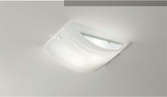 Plafoniere Moderne Vetro : Gea luce ilaria plafoniera vetro bianco Ø35 per ingresso moderna