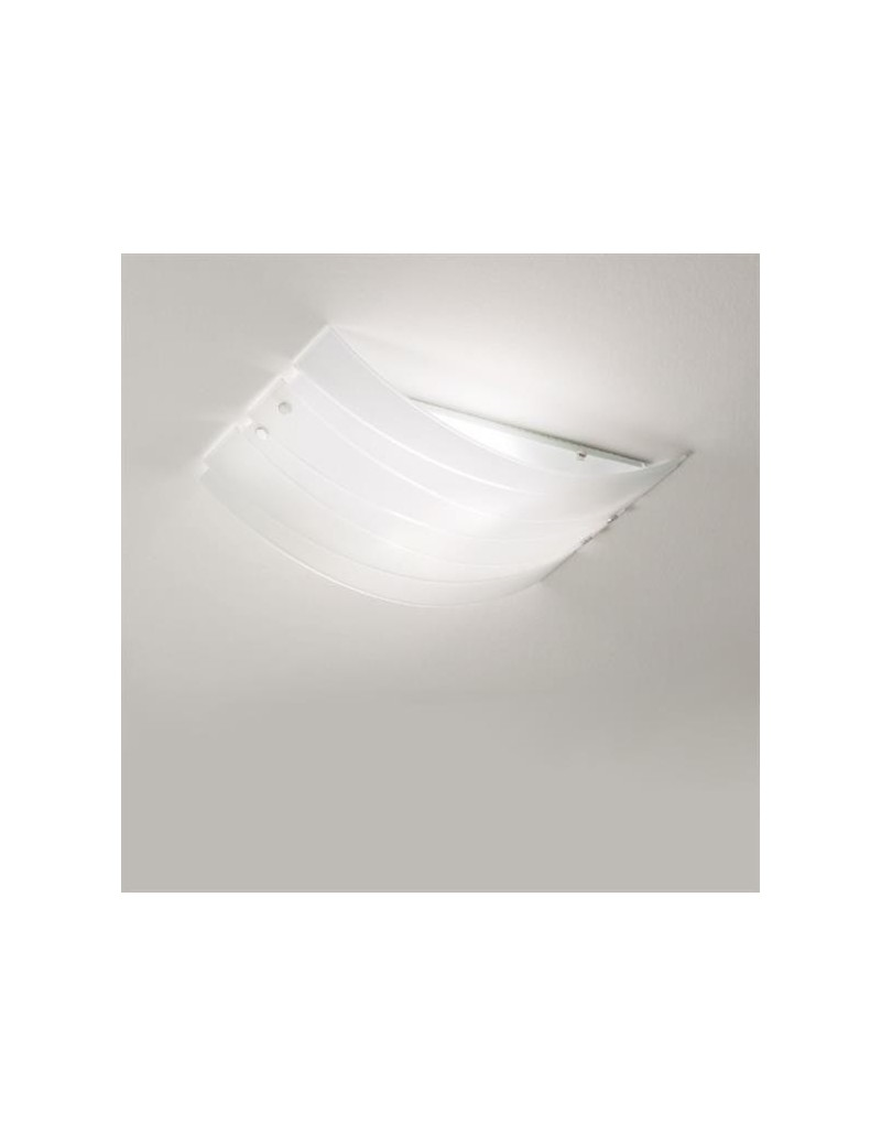 Ilaria plafoniera per cucina moderna vetro bianco 45cm