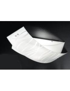 GEA LUCE: Agnese medium lampada da soffitto plafoniera moderna vetri fili bianchi in offerta