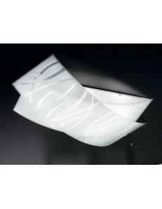 GEA LUCE: Agnese grande plafoniera moderna per soggiorno vetri fili bianchi in offerta