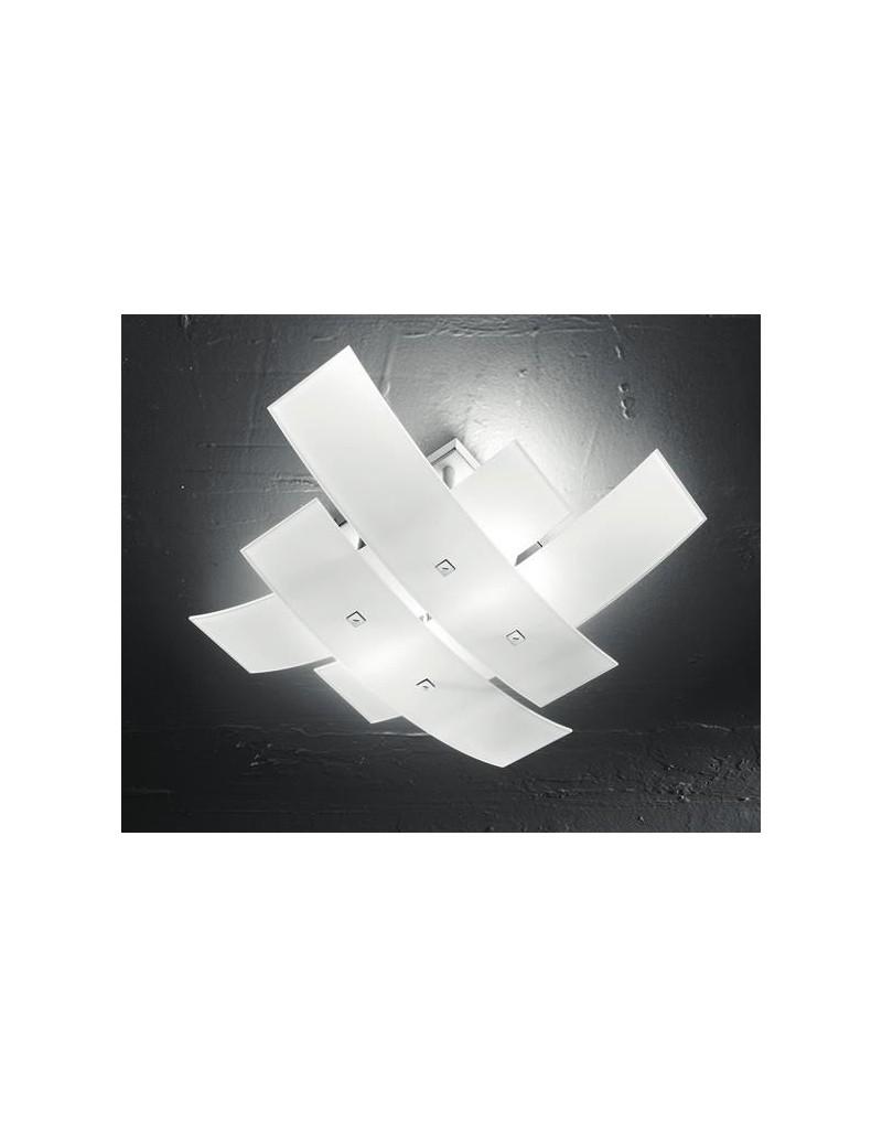 Lara plafoniera bianca per soggiorno moderno 70cm