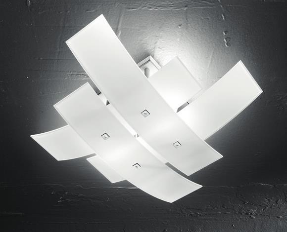 Plafoniere Da Soggiorno : Plafoniera Ø moderna gea luce lara bianca design per soggiorno