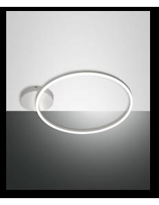 Giotto plafoniera moderna LED rotonda dimmerabile bianco