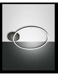 Fabas Luce: Giotto plafoniera LED rotonda dimmerabile nero in
