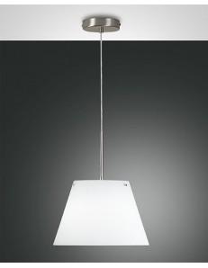 Alexia lampada sospensione con paralume in vetro bianco camera da letto soggiorno