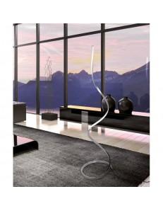 MANTRA: Nur xl piantana LED design moderno dimmerabile intreccio silver luce calda cromo in offerta