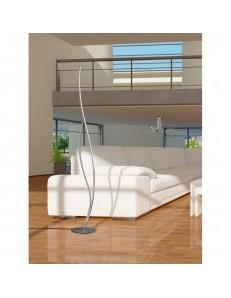 MANTRA: Corito piantana LED moderna dimmerabile luce calda silver cromo in offerta