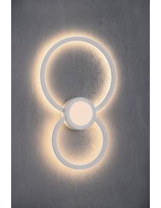 MANTRA: Mural applique LED doppio cerchio luce calda bianca indiretta in offerta