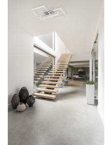MANTRA: Mural plafoniera LED doppio quadrato luce calda bianca dimmerabile in offerta
