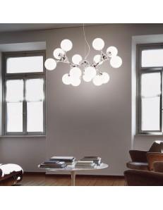 IDEAL LUX: Sospensione moderna NODI BIANCO SP15 Ø 105 Ideal Lux in offerta
