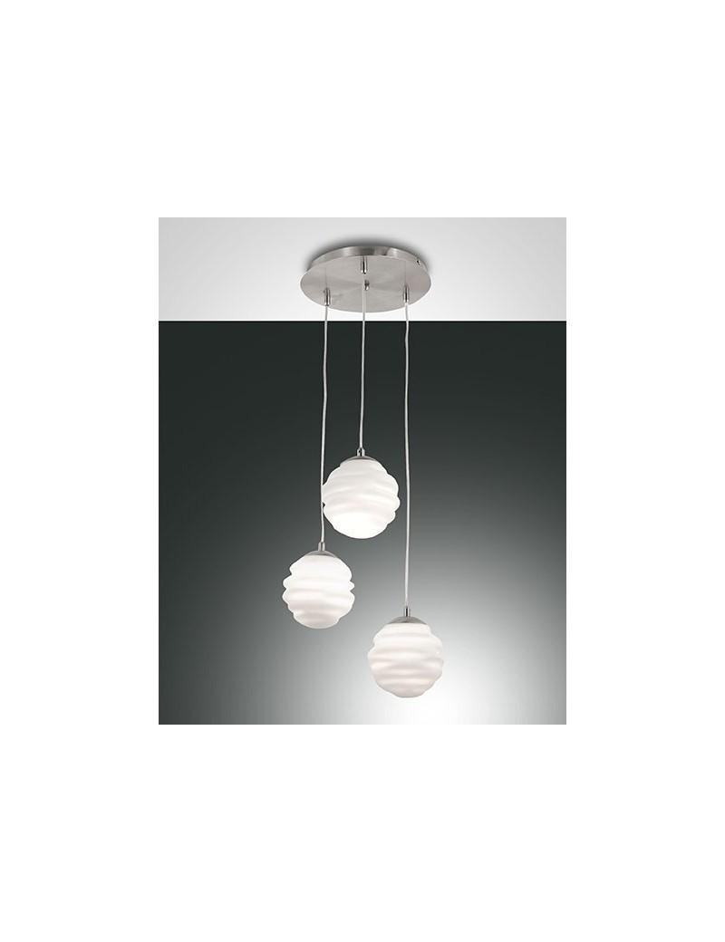 FABAS LUCE: Ava 3 sfere sospensione vetro soffiato in offerta