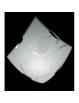 MR DESIGN: Plafoniera quadrata moderna vetro serigrafato linee 40x40cm in offerta