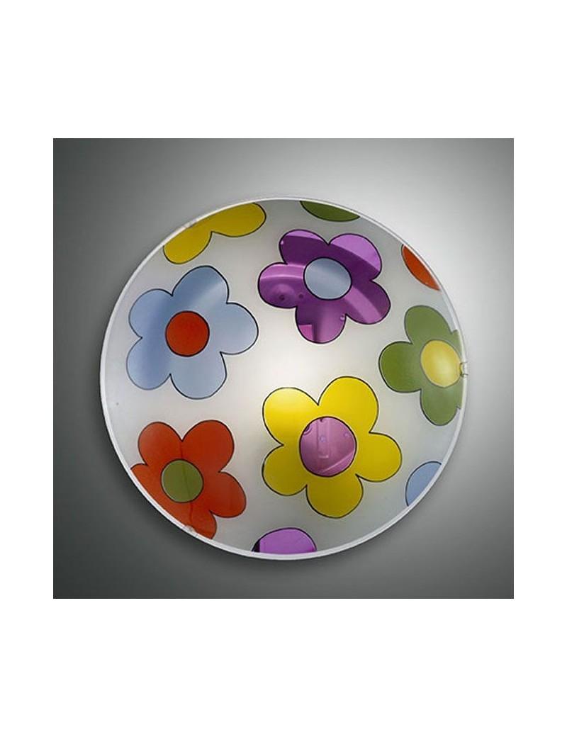 FABAS LUCE: Plafoniera rotonda design fiori 30cm per cameretta in offerta