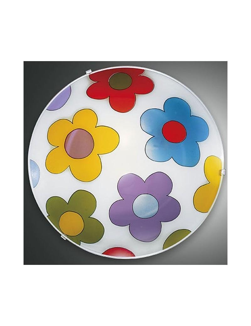 FABAS LUCE: Plafoniera rotonda design fiori 40cm per cameretta in offerta