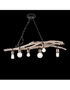 IDEAL LUX: Driftwood sp6 lampadario classico per sala da pranzo in legno naturale 60w in offerta