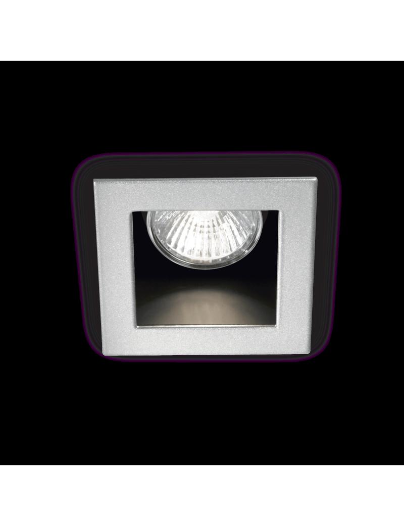 IDEAL LUX: Funky faretto quadrato color alluminio da incasso attacco gu10 in offerta