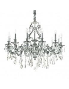 IDEAL LUX: Gioconda sp12 argento lampadario soggiorno classico a 12 luci 40w in offerta