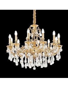 IDEAL LUX: Gioconda sp12 oro lampadario soggiorno classico a 12 luci 40w in offerta