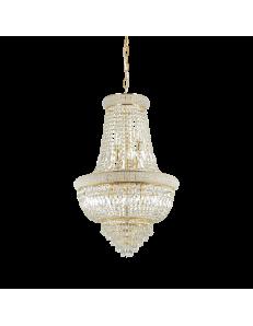 IDEAL LUX: Dubai sp10 ottone Lampada sospensione 10 luci in cristallo in offerta