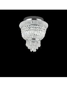 IDEAL LUX: Dubai pl3 cromo Plafoniera 3 luci in cristallo in offerta