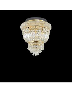 IDEAL LUX: Dubai pl3 ottone Plafoniera 3 luci in cristallo in offerta