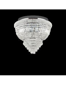 IDEAL LUX: Dubai pl6 cromo Plafoniera 6 luci in cristallo in offerta