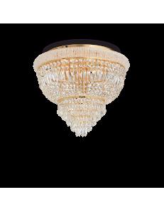IDEAL LUX: Dubai pl6 ottone Plafoniera 6 luci in cristallo in offerta