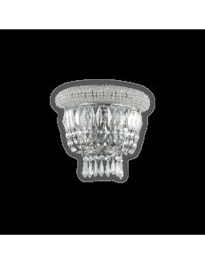 IDEAL LUX: Dubai ap2 cromo Applique 2 luci in cristallo in offerta