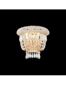 IDEAL LUX: Dubai ap2 ottone Applique 2 luci in cristallo in offerta