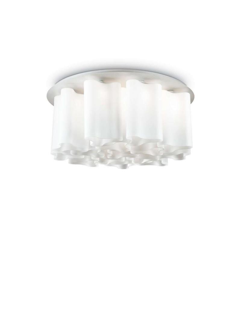 IDEAL LUX: Compo pl15 plafoniera vetro soffiato bianco opaco 85cm in offerta