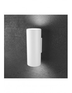 Shape Applique big LED biemissione cilindro bianco