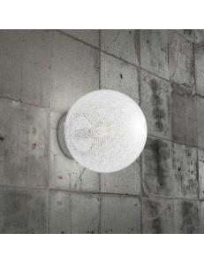 Glitter applique sfera trasparente