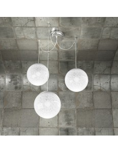 Glitter sospensione 3 luci sfere Ø20cm