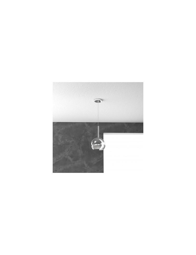 TOP LIGHT: Future sospensione boccia vetro cromo 15cm in offerta