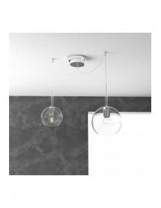 TOP LIGHT: Future sospensione 2 luci vetro trasparente in offerta