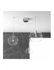 TOP LIGHT: Future sospensione 3 luci vetri trasparenti in offerta