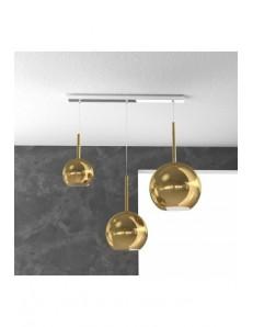 TOP LIGHT: Future sospensione 3 luci vetri oro in offerta