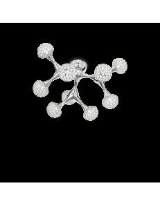 IDEAL LUX: Nodi Crystal PL9 plafoniera 9 luci con cristalli in offerta