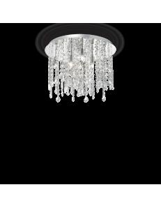 IDEAL LUX: Royal PL8 plafoniera 8 luci cromo con cristalli pendenti in offerta