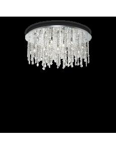 IDEAL LUX: Royal PL12 plafoniera 12 luci cromo con cristalli pendenti in offerta