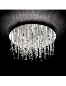 IDEAL LUX: Royal PL15 plafoniera 15 luci cromo con cristalli pendenti in offerta