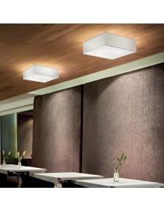 IDEAL LUX: Ritz PL4 plafoniera quadrata bianca 60x60 cm in offerta